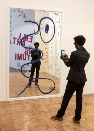 Moussa Sarr Narcisse avia (Le miroir de Narcisse), exhibition view, Take me I'm Yours, Villa Medicis, 2018
