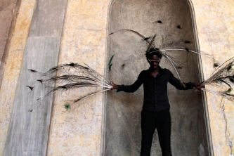 Moussa Sarr Narcisse metamorphosis, photography-performance, 2018