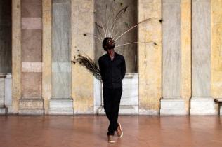 Moussa Sarr Narcisse metamorphosis, photography-performance, 2018